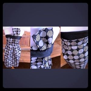 K-pop style dress see exaggerated bow and geo prin